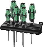 Wera Schraubendrehersatz 367/6 TORX® HF Kraftform Plus  mit Haltefunktion + Rack, 6-teilig, 05028059001