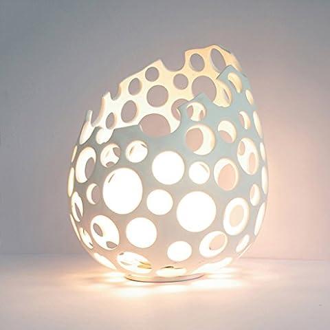 LEGELY Lampe de table en résine, lampe simple d