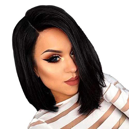 Kostüm Männer Brasilianische - Barlingrock 15.7 'Perücken für Frauen, weibliche Mode brasilianische kurze gerade Bobo-seitige Haarperücke Party Haarverlängerung Cosplay Ersatz falsche Perücke für Kostüm Daily Life (schwarz)
