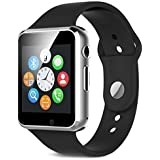 Champkia A1 Bluetooth Smartwatch | Wrist Watch (a1 Black) With Sim Card Support For High Quality Calling | Facebook And WhatsApp | Touch Screen | Multilanguage | Activity Trackers | Fitness Band Features | Video Recording | Phone Book | Smartwatch Phone W