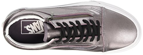 Vans Old Skool Zip, Baskets Basses Mixte Adulte Violet (Metallic Leather/Thistle Purple/True White)