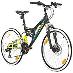 "BIKE SPORT LIVE ACTIVE Bikesport Direction Bicicleta para niño, Tamaño de Rueda: 24"", Aluminio Cuadro 21 velocidades Shimano (Negro)"