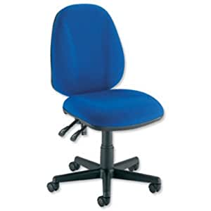 Trexus Intro Operators Chair PCB High Back H490mm Seat W490xD450xH440-560mm Blue