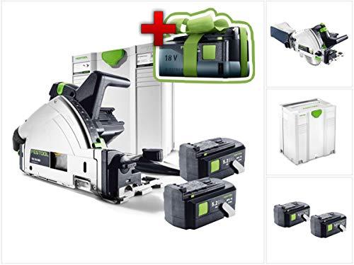 Preisvergleich Produktbild Jetzt mit GRATIS AKKU: Festool TSC 55 REB-Li Basic 18 / 36 V Akku Tauchsäge (201395) im Systainer + 2x BPC 18 Volt 5, 2 Ah Li-lon