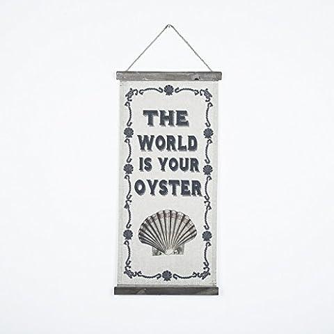 OYGROUP Hängende Malerei auf Baumwolle Leinen mit Zitat Wörter und