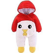 Pelele Bebe Invierno Unisex Recién Nacido Niña Niño Bodies Disfraces  Animales Panda Pato Pinguino Pollito Monos 24aaaaf16ff