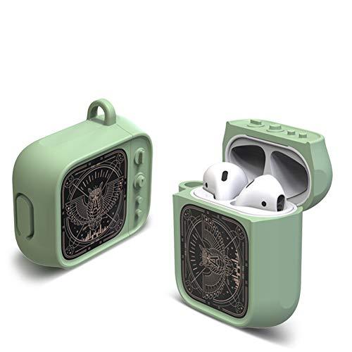 In Ear Kopfhörer Ohrhörer 2PC Wireless Bluetooth Headset Silikon Shockproof Hülle für Apple Airpods(Grün,10CM*9CM*5CM)