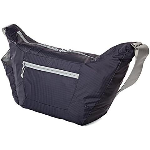 Lowepro Photo Sport Shoulder 18L - Bolsa para cámaras, diseño deportivo, morado y gris