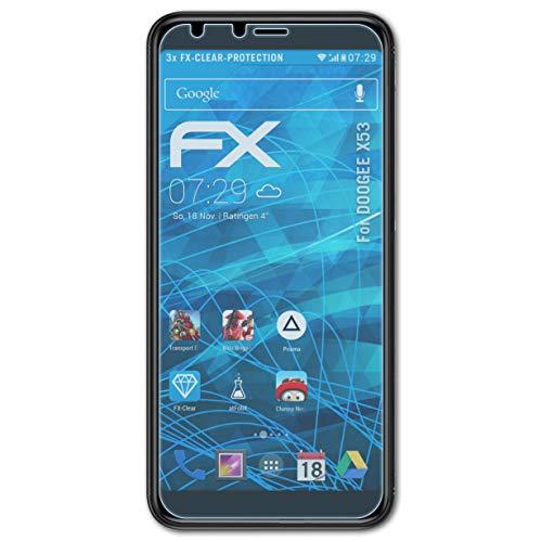 atFolix Schutzfolie kompatibel mit DOOGEE X53 Folie, ultraklare FX Displayschutzfolie (3X)