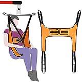 Cinghia da toilette per sollevamento pazienti, attrezzatura medica per sollevamento pesi, handicap bariatrico, fascia, cinghia di trasferimento medico, con supporto a quattro punti