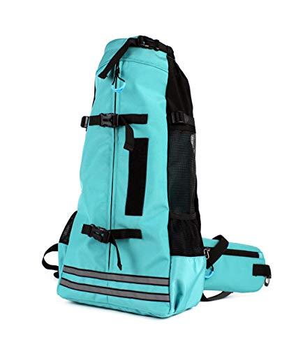 QQGGXX Hunderucksack, Haustier-Tragetasche mit atmungsaktivem Head-Out-Design, Sicherheitsmerkmalen und Rückenpolster | für Reisen, Wanderabenteuer, Camping im Freien -