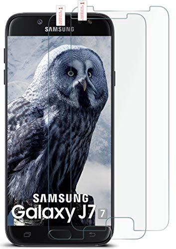 moex 2X 9H Panzerfolie für Samsung Galaxy J7 (2017) | Panzerglas Display Glasfolie [Tempered Glass] Screen Protector Glas Displayschutz-Folie für Samsung Galaxy J7 2017 Schutzfolie