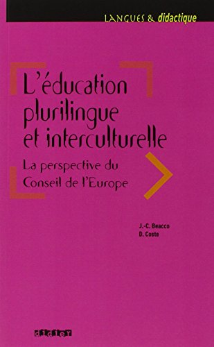 L'ducation plurilingue et interculturelle : La perspective du Conseil de l'Europe