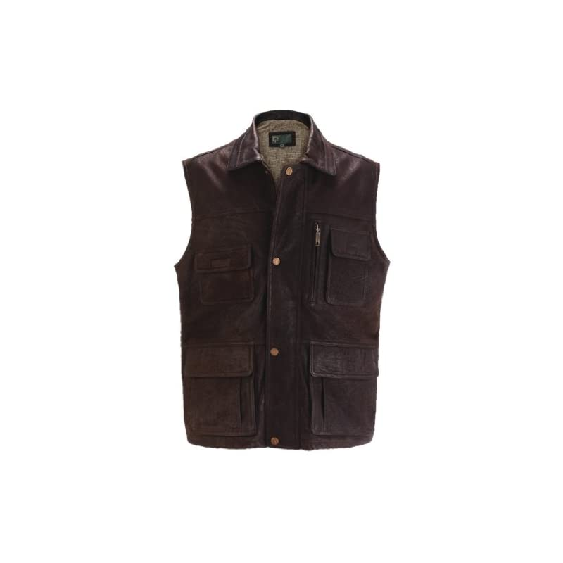 Hide Park Brown Leather Gilet – Medium
