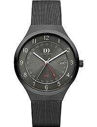 Danish Design Herren-Armbanduhr Analog Edelstahl Schwarz DZ120465