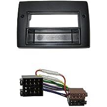 Kit de instalación de radio de coche para Fiat Stilo (versión profesional, con bandeja de almacenamiento), color negro