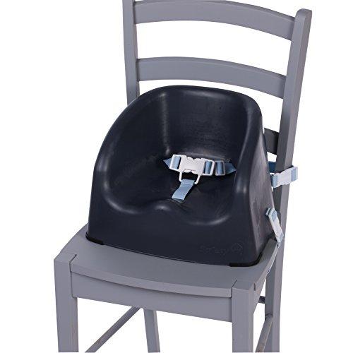 Safety 1st Sitzerhöhung Essential Booster, schnelle und einfache Anbringung auf allen gängigen Esstischstühlen, pflegeleichte Oberfläche, 3-Punkt-Gurt für einen sicheren Halt, grey patches (Einfach Patch)