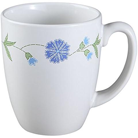Corelle Stoneware Mug Spring Blue, 11 Oz, White by CORELLE