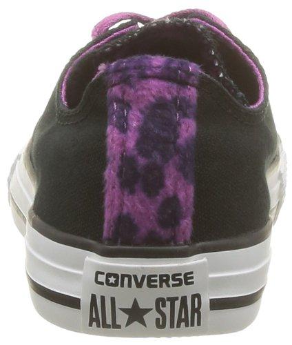 Converse  Ct Dt Anim Ox,  Sneaker unisex bambino Nero (Noir (Noir/Violet))