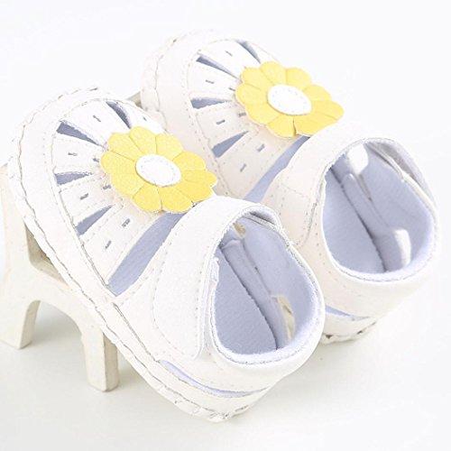 BZLine® Baby Mädchen Blumen Schuh rutschfest weiche Sohle Schuhe Gelb