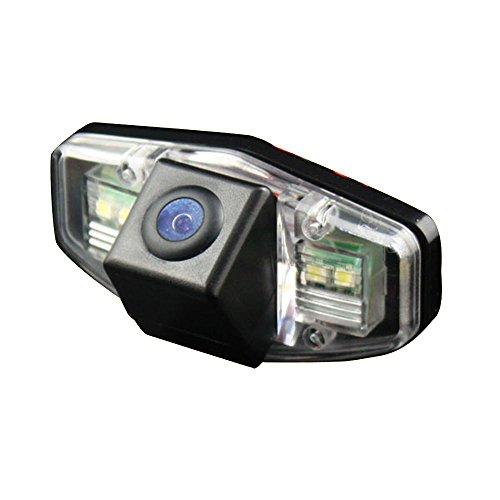 Navinio Nachtsicht Rückfahrkamera Einparkkamera Kamera Einparkhilfe Farbkamera Rückfahrsystem Einparkkamera Wasserdicht für Honda Accord Civic Odyssey Pilot Acura TSX (Modell 2 ohne LED)