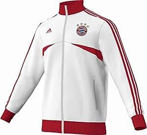 adidas Performance Herren Trainingsjacke FC Bayern Fanjacke weiß S