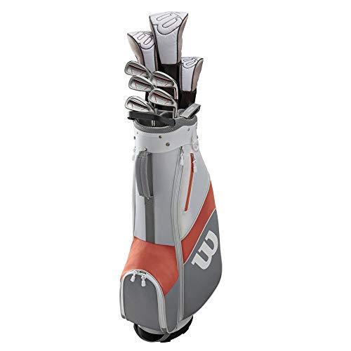 Wilson 1200 TPX Damen Rechtshänder Golf Komplettset Standardlänge inkl. 12er Pack Zip Bälle