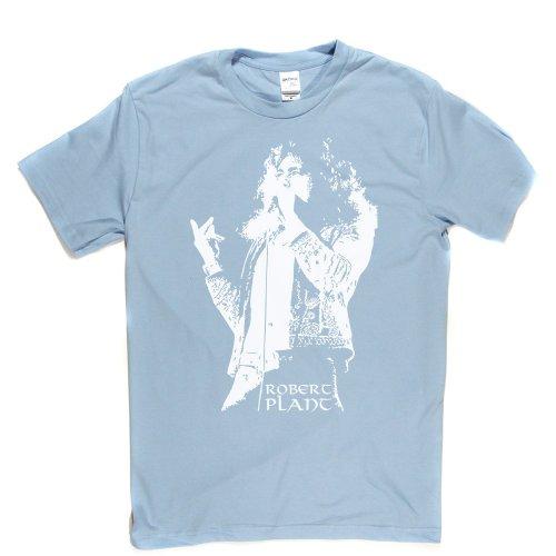 Robert Plant English Musician Rock Band 2 T-shirt Himmelblau