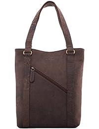 LEABAGS Mons sac à main rétro-vintage en véritable cuir de buffle