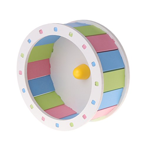 LANDUM Hamster Laufrad Pet Toys Roller DIY Silent Colorful Käfig Supplies Übung, PVC, Bunt, Large