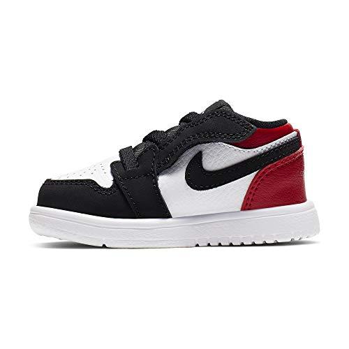 Nike Baby Jungen Jordan 1 Low ALT (TD) Sneaker, Mehrfarbig (White/Black-Gym Red 116), 22 EU