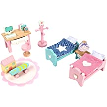 Le Toy Van ME061 Daisylane Doll's House Children's Room Wooden Furniture Set