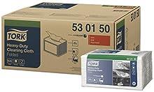 Tork 530150 Chiffon de nettoyage extra résistant Premium, compatible avec le système W8 / un pli - 38,5cm x 32cm - 8 x 45 chiffons - Blanc