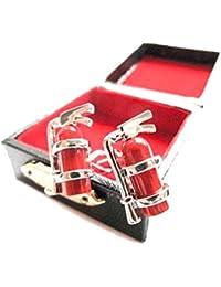 Extintor Gemelos Miniblings + caja de fuego bomberos de bombero