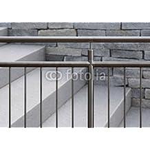 Resistente carcasa de acero inoxidable con tapa barandilla y de colour gris Escaleras al aire libre (79621094), lona, 100 x 70 cm