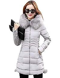 4a0e279d83df1 Abrigo Acolchado Mujer Largos Slim Fit Chaqueta Invierno Termica Manga  Larga Modernas Casual con Capucha De