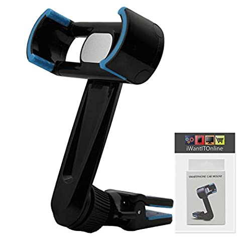 IWIO Black / Blue Phone Air Vent Clip 360 Degree Holder Car Mount Cradle for Orange San Diego