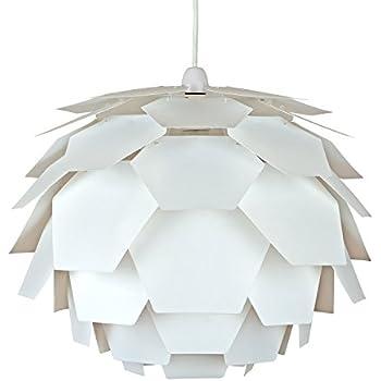 Modern white designer style spiral ceiling pendant light shade modern white designer artichoke ceiling pendant light shade aloadofball Choice Image