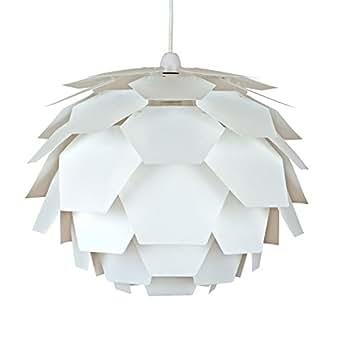 MiniSun abat Jour Moderne en Blanc pour Suspension. Abat Jour Designer Artichaut blanc. Suspension pour plafond