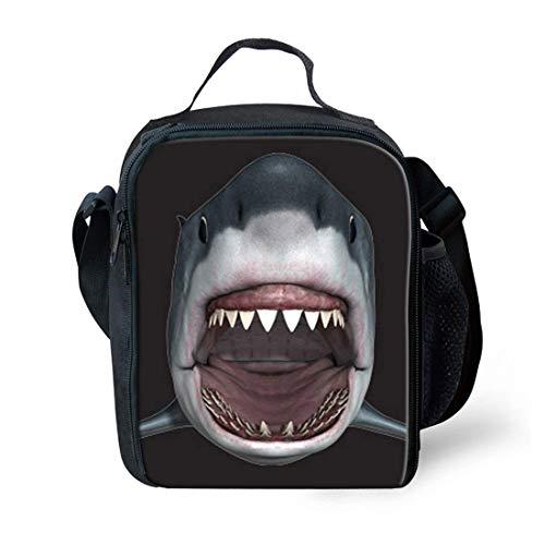 Lounayy Lunchtasche Isolierte Frauen Kleinen Staubbeutel Essen Mode Lunchbox Kinder Box Schulrucksack (Color : Cool Shark, Size : One Size)