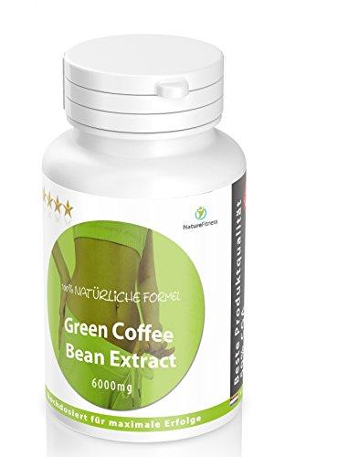 Diät Abnehmen Stoffwechsel Booster: Green Coffee Bean HOCHDOSIERT 6000mg 120 Kapseln - Reicht für ca. 2 Monate - NEU! Grüner Kaffee Diät Pillen kurbeln den Soffwechseln an Booster für Deinen Abnehmerfolg - Garantiert Glutenfrei