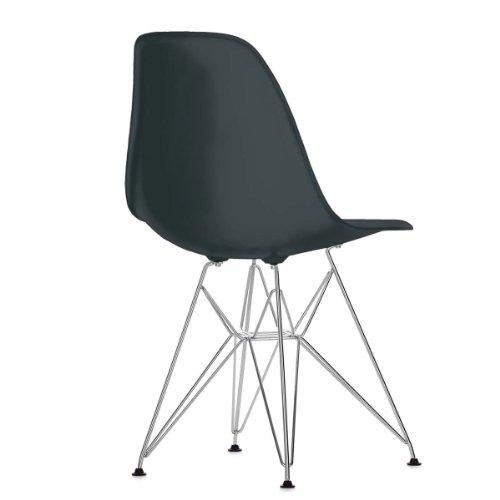 Vitra 440022000201 Eames Plastic Side chair DSR basic dark Untergestell verchromt, 810 x 465 x 550 mm