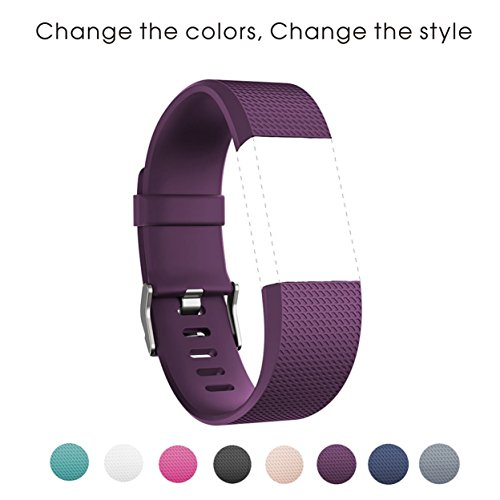 sunface-bands-for-fitbit-charge-2-heart-rate-purple-classic-fitness-wristband-replacement-accessorie