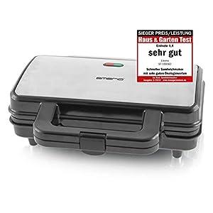 Emerio ST-109562, XXL Sandwichtoaster für alle Toastgrößen geeignet, Edelstahl, große Muschelform, kein Auslaufen, PREIS-/LEISTUNGSSIEGER Haus & Garten Test 03/2019
