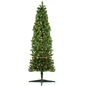 4Ft Pre-Lit Artificial Half Christmas Tree: Amazon.co.uk: Kitchen ...