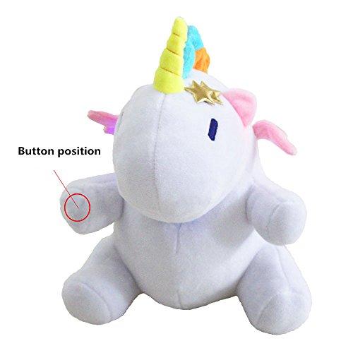 Preisvergleich Produktbild JYSPORT Einhorn Plüsch Kissen Leuchtendes Soft Toys Nacht Kuscheltier Spielzeug Plush Doll (LED unicorn)