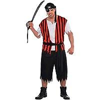 Amscan International Ahoy Matey - Disfraz de pirata para adultos