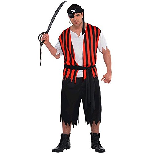 Ahoi Piraten Kostüm - Piraten Kostüm Ahoi Matey Herren Gr. 48/50