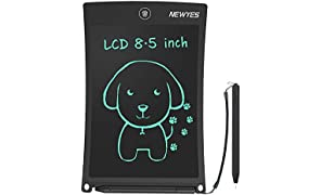 NEWYES LCD Writing Tablet,8.5inch Drawing Tablet Erasable Portable Doodle Mini Board Kid Toys Birthday Gift Learning Tool for Boys Girls(Black)
