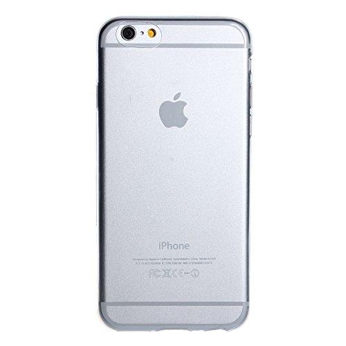 wortek Silikon Case Schutzhülle Extra Grip nur 0,45mm Dünn Apple iPhone 6 4,7 Zoll Pink Transparent Transparent